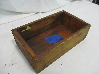 Old Primitive Vintage Antique Wood Small Box Compartment Display Trinket H2