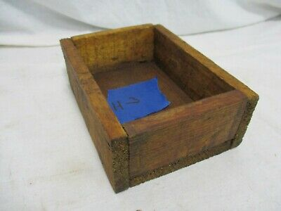 Old Primitive Vintage Antique Wood Small Box Compartment Display Trinket H3