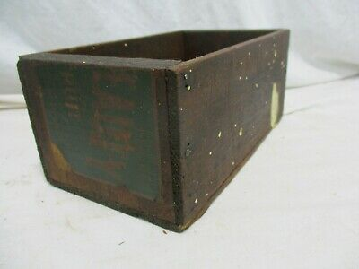 Old Primitive Vintage Antique Wood Small Box Compartment Display Trinket H5 frui