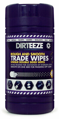 Dirteeze Rough and Smooth Wipes - Tub of 80