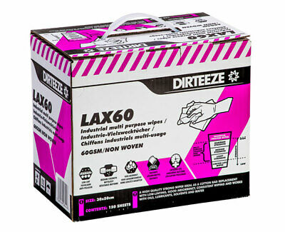 Dirteeze Smooth and Strong Trade Wipes - Tub of 80