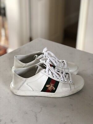 f625a0d78 GUCCI ACE BEE embroidered sneakers white Unisex , Size Uk 3,5 4 ...