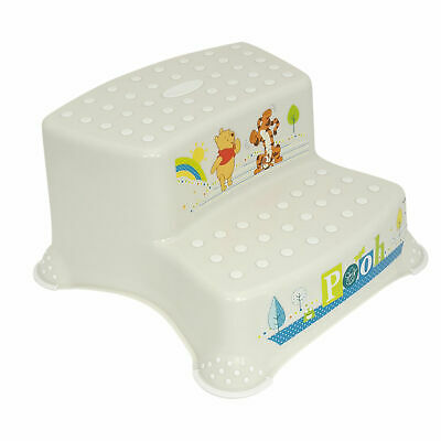 Perla Blanco Premium Zweistufiger Taburete Escalón Disney Winnie Puuh Estable