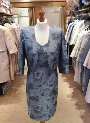 BNWT GenuineLizabella Duckegg Blue Jacquard Mother of Bride Outfit Size UK 10