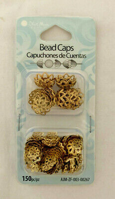 Blue Moon Beads Jewelry Crafting Gold Bead Caps     BN-28