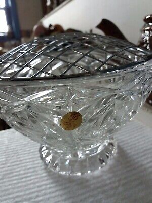 24% Lead Crystal Rose Bowl.16.5cm.