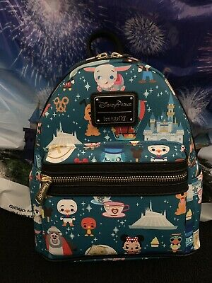 2019 Disney Parks Attractions Characters Mini Backpack Loungefly BAG C