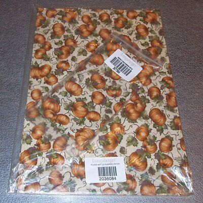 Longaberger Pumpkin Patch 2-PLACEMATS + 2-NAPKINS ~ Brand New in Packages!