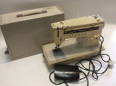 Vintage Singer Sewing Machine And Case, Textiles, Retro, Antique, Hobby, Craft