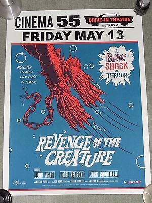 Mondo Revenge Of The Creature Limited Edition 175 Screen Print Poster Sold Out