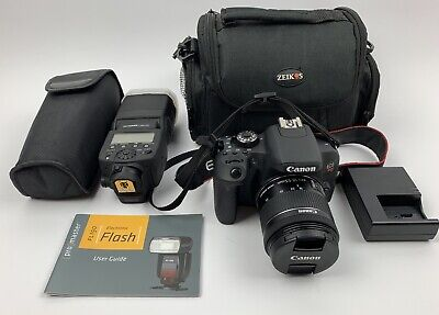 Canon Rebel T7i Bundle With Kit Lens And FL190 Electronic Flash Great Condition