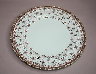 "Spode Plate  10 3/4"" Fleur De Lys Red Y 7481-E  Fine Bone China-England"