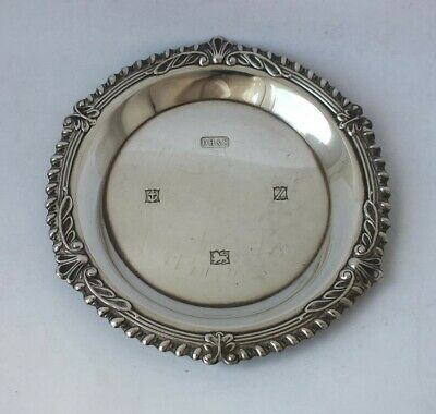 Solid Sterling Silver Coins Dish 1974/ Dia 9 cm/ 40 g