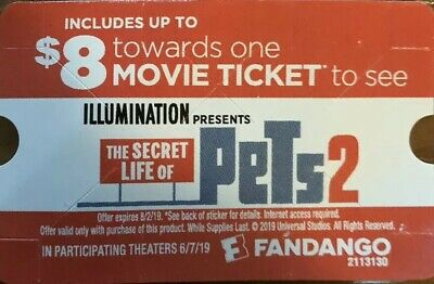 $8 Off One Movie Ticket To See The Secret Life Of Pets 2 On Fandango Only