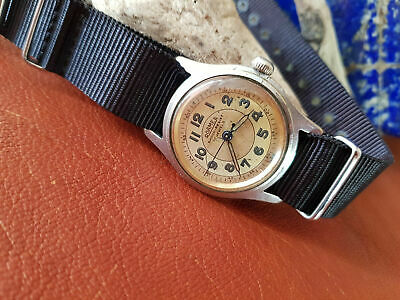 Used 1950'S Roamer Military Twotone Silver Dial Mid Size Watch