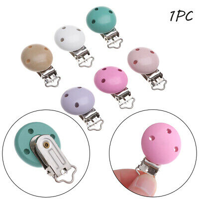 Teething Soother Strap Baby Pacifier Clip Teether Holder Wooden Nipple Holder