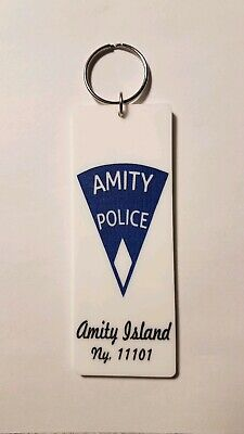 Amity Police Beach Closed Amity Island Jaws inspired keychain key chain