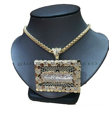 10k Yellow Gold Last supper pendant Byzantine Chain Mens Necklace,Charm,100%REAL