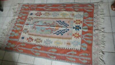 Old Estate Hand Woven Antique Native American Rug 37x70