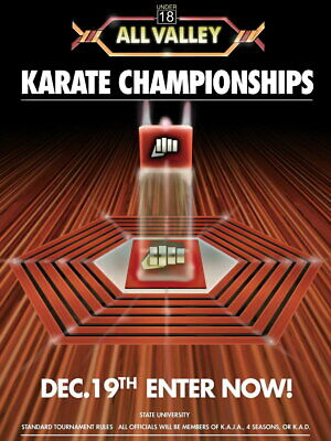 V8939 Karate Kid Tournament All Valley From 1984 Movie Art Wall Poster Print