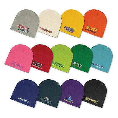 25 custom embroidered personalised promotional Commando Beanie with logo