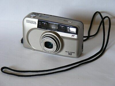 Minolta Riva zoom 90  35mm film camera mint condition good working order