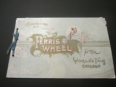 1893 World's Columbian Exposition Booklet Souvenir of a Ride on the Ferris Wheel