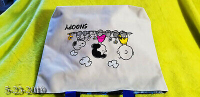 "Rare not sold in stores Peanuts Snoopy Canvas Tote Bag Peanuts Japan 12.5"" x9.5"""