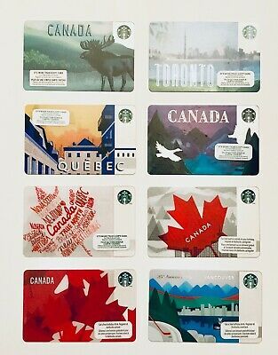 STARBUCKS CANADA PICK YOUR City Cards Vancouver Quebec Toronto 2011 to 2019 New