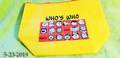 "Rare not sold in stores Peanuts Snoopy Yellow Tote Bag Peanuts Japan 11.5"" x8.5"""