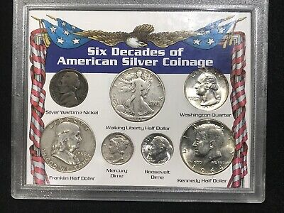 Old US Silver Coin Mixed Lot. Free Shipping