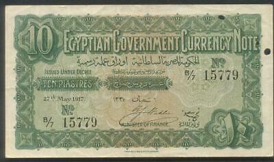 Egypt, Government 10 Piastres 27th May 1917