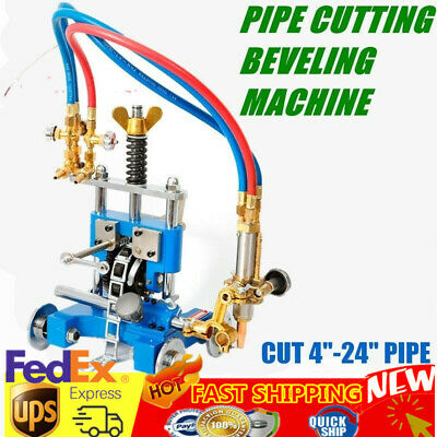 Manual Pipe GAS Cutting Machine 0°-45° Bevel Angle 5-50mm Thickness Beveling New