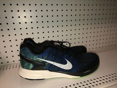 online store 40ae3 e489d Nike Lunarglide 7 Mens Athletic Running Shoes Size 11 Blue Black Green White