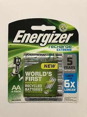 ENERGIZER 1 X Pack Of 4 Recharge Extreme  2300mAh AA Rechargeable Batteries