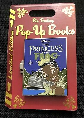 Disney Parks Trading Pop-Up Books The Princess And The Frog TIANA Pin LE