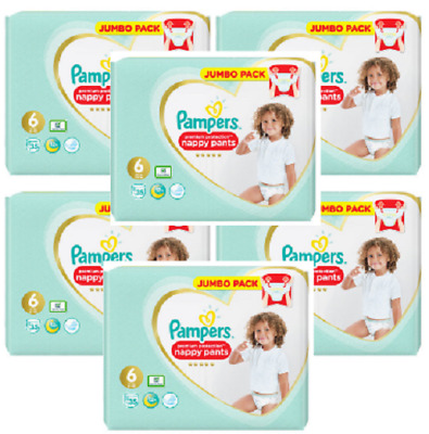 Pampers Nappies Size 6, 3 x 2 x 35 Jumbo Packs Monthly Bumper Mega 210 Pants