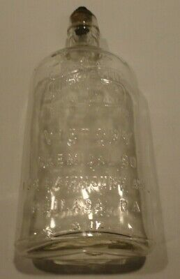 Antique Vintage Quick Death Insecticide And Disinfectant Glass Cork Bottle