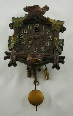 Vintage August C. Keebler Co. Mini Cuckoo Clock Chicago Illinois
