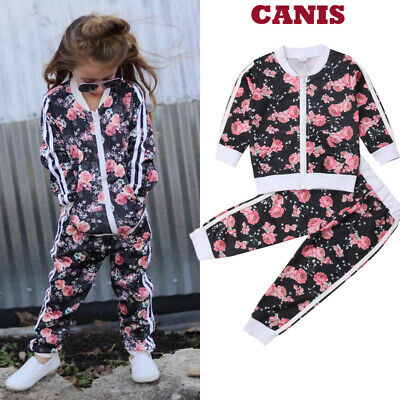 Toddler Infant Kids Girl Clothes T-shirt Top Pants Outfit Sets Tracksuit Baby