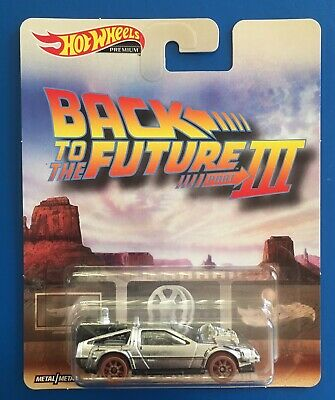 2018 Hot Wheels PREMIUM BACK TO THE FUTURE III WILD WEST DeLOREAN TIME MACHINE!