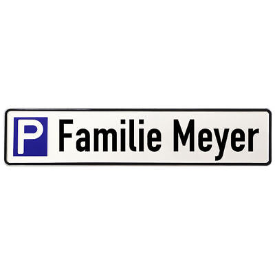 Aluminium Sign Parking for Members of a Family S3671