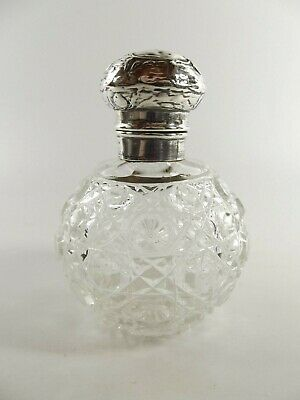 Antique Silver Dressing Table Bottle With Silver Mount & Lid Birmingham Ref222/2