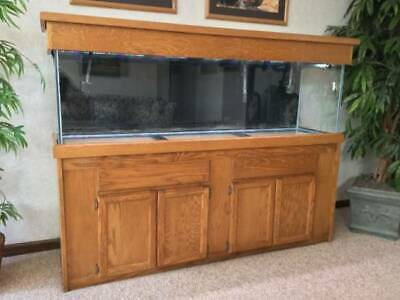 """125 GALLON """"STARPHIRE"""" glass (low iron) aquarium with stand and many  essentials"""