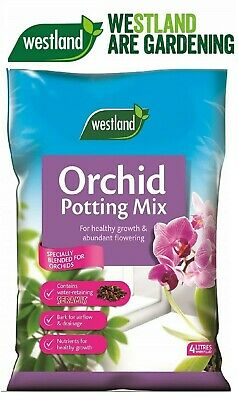 Westland Orchid Potting Compost Mix and Enriched with Seramis, 4 L. New, UK
