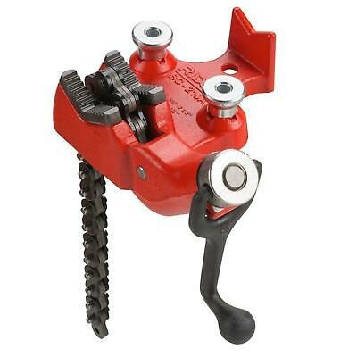 1/8 Inch To 4 In Bc410p Top Screw Bench Chain Vise Ridgid Model Pipe Base Cast