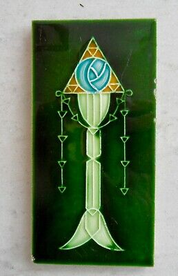 "Original  English  abstract Art Nouveau tile c1906/9 3'X6 ""Tile ref  208"