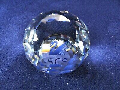 Swarovski Silver Crytal Joining Gift From 1988-1991 Paperweight Ref 65/3