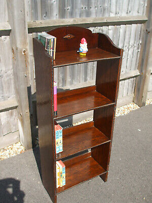 Large antique oak bookcase, Edwardian 1920s era, good colour,and original finish