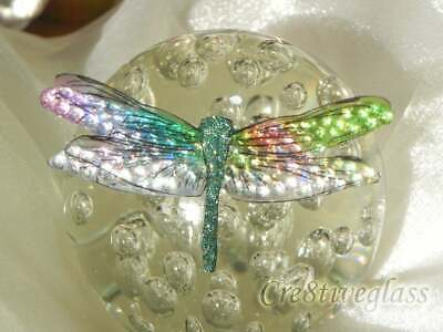 10cm Crystal iridescent handcrafted Dragonfly embellishment jewellery,craft,gift